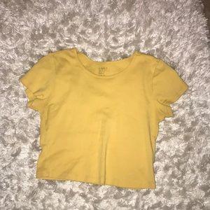 Yellow crop top